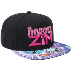 f30e18b7e80 Nickelodeon Invader Zim Sublimation Bill Snapback Hat ( 16) ❤ liked on  Polyvore featuring accessories