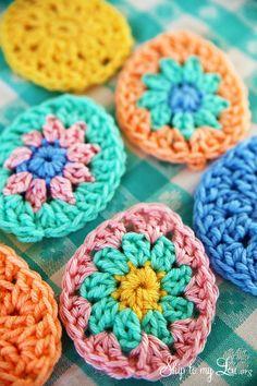 Crochet Easter Egg Garland - Skip To My Lou