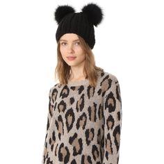 9bfb347749b Eugenia Kim Mimi Pom Pom Fur Beanie Hat ( 245) ❤ liked on Polyvore featuring