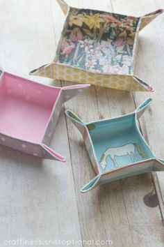 How to Make Fabric Trays