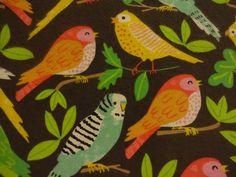 "Brilliant ""EXOTIC BIRDS"" Handmade Cotton Flannel Pillowcase Standard/Queen #Nature"