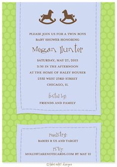 twin boys baby shower invitation twins babyshower party