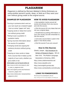 This chart represents the correct ways to avoid plagiarism, as well as provide the readers with examples. The author of this chart also properly cites their sources below, further representing the appropriate way to use sources for oneself. Anti Plagiarism, Plagiarism Checker, Research Writing, Research Skills, Academic Writing, School Library Lessons, Middle School Libraries, Information Literacy, Writing