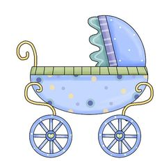 Free SVG Baby Carriage Stroller Buggy