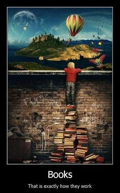 Books let you leave it all behind. #reading #books