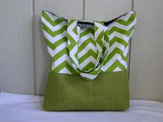 North Coast Tote with Burlap  Ready To Ship  by wildsproutdesign, $25.00