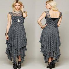 Multi Layer Ruffled Asymmetric Women Dress | Daisy Dress for Less | Women's Dresses & Accessories