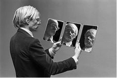 anneyhall:  Andy Warhol - I'll be the mirror (c.1970)