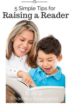 5 Simple Tips for Raising a Reader. Great for the year old kiddos. From Busy Kids Happy Mom. Reading Resources, Teaching Reading, Teaching Kids, Kids Learning, Guided Reading, Literacy Activities, Activities For Kids, Educational Activities, Reading Specialist