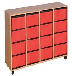 Materialcontainer, Eigentumschrank mit hohe Boxen