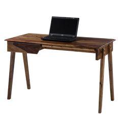 Schreibtisch Cullman - Sheesham massiv, Ars Natura   Büro > Bürotische > Schreibtische   Braun   Massivholz   Ars Natura