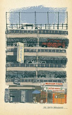 Sketchbook Drawing for an essay on the history of the Los Angeles landscape.