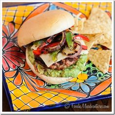 Fajita Burgers: These bold and spicy burgers are full of Mexican flavors – and are topped with all the best fajita fixings.