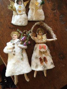 Spun cotton ornaments by Susanne Uhsemann