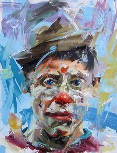 fine art clown | Paul Wright, Clown