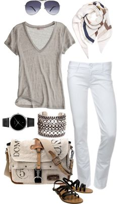 Non preppy white jeans look . . .