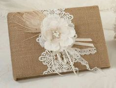 Burlap & Lace Collection by Lillian Rose for your rustic theme wedding. Burlap & Lace Wedding Accessories include a guest book, pen set, flower basket, ring pillow, favor bags and more. Rustic Wedding Guest Book, Wedding Book, Chic Wedding, Wedding Burlap, Wedding Ideas, Wedding Reception, Wedding Favors, Wedding Supplies, Wedding Country