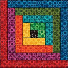 rainbow log cabin #quilt template