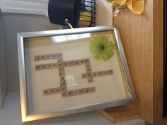 Made this for my bestie's birthday #scrabble #scrabbleart #gift #homemade #crafts