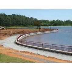 One mile track circling the lake at Rhodes Jordan Park, Lawrenceville, GA