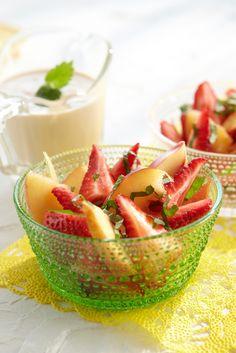 Mansikka-nektariinijälkiruoka | Pirkka #food #desserts