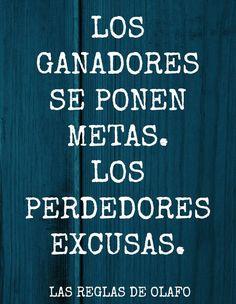 Por eso, a los perdedores con sus excusas, fuira!!