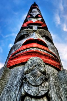 Bright Totem Pole- I sure miss the sight and sites of my home totem poles.