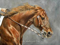 "Makin' Fast Work    16"" x 20"" oil on canvas   Western Horse Art |    Carole Andreen-Harris Art"