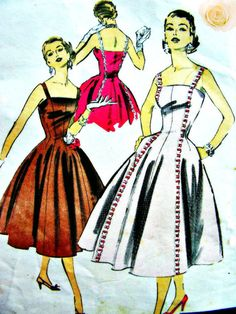 Vintage 50's ADVANCE Pattern 7990 by American Designer by anne8865, $35.00