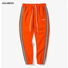 Cheap leisure trousers, Buy Quality track pants black directly from China jogger pants Suppliers: Aolamegs Men casual track pants black white plaid side stripe vintage jogger pants high street male sweatpants leisure trousers Girls Fashion Clothes, Girl Fashion, Girl Outfits, Sport Outfits, Urban Clothing Brands, Designer Sportswear, Fashion Design Template, Mens Fashion Sweaters, Colored Pants