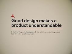 4. Dieter Rams: Principles for Good Design