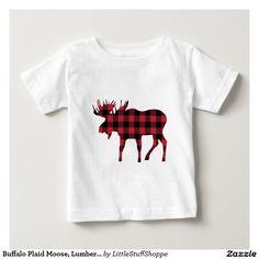 Buffalo Plaid Moose, Lumberjack Style, Red Black