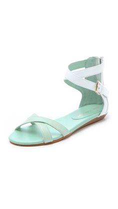 Rebecca Minkoff Bettina Two Tone Flat Sandals