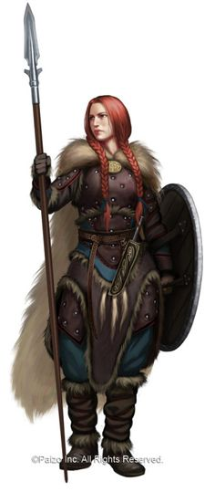 """heroineimages: """"  Ulfen Guard, by Akeiron First blog post of 2017! Of the handful of Norse words I know, ulf is their word for 'wolf,' which to me says a great deal about our Ulfen guardswoman, in terms of both character and world building. As wolves..."""