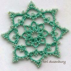 TATtle TALES Tatting Patterns: Tatted Snowflakes Eye Candy Star Schematics