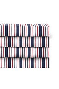 STRIPE FITTED SHEET R160 KING SZ