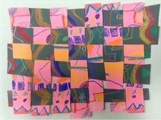 Drip, Drip, Splatter Splash: Paper Weaving with Second Graders