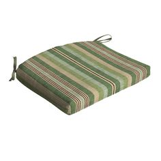 allen   roth Green Stripe Seat Pad For Universal