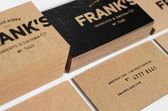 business card kraft type