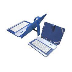 """Funda Universal con Teclado USB para Tablet 10\"""" Azul"""
