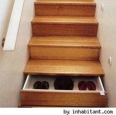 Wow! Love that hidden drawer under the stairs!