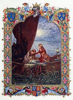 Alberto Sangorski, from Morte d'Arthur, a poem, by Alfred, Lord Tennyson, London, 1912