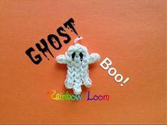 ▶ EASY Rainbow Loom Ghost Charm - YouTube