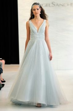 Blue Wedding Dress An Icy From Angel Sanchez Spring