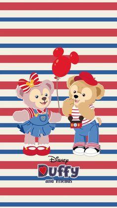 Disney Phone Wallpaper, Friends Wallpaper, Bear Wallpaper, Cartoon Wallpaper, Iphone Wallpaper, Duffy The Disney Bear, Disney Love, Tsum Tsum Wallpaper, Pooh Bear