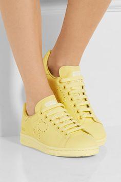 Adidas Originals | + Raf Simons Stan Smith perforated leather sneakers | NET-A-PORTER.COM