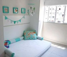 60 Montessori Room Options That Are a Flush Explosion! Baby Bedroom, Baby Boy Rooms, Girls Bedroom, Bedroom Small, Toddler Floor Bed, Toddler Rooms, Montessori Bedroom, Baby Room Design, Decoration Design