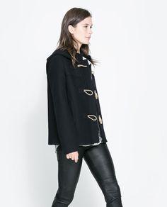 Image 3 of SHORT DUFFLE COAT from Zara