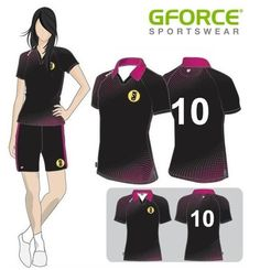 This ladies football kit design is simple yet strong with a punch of colour at the collar #dyesublimation #sports #teamwear #customkit #dyesub #sportswear #football #ladiesfootball #pattern #striking #simple #colour
