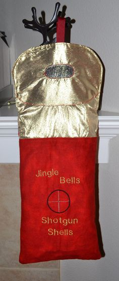 "Shotgun Shell Christmas Stocking ""Jingle Bells, Shotgun Shells"""